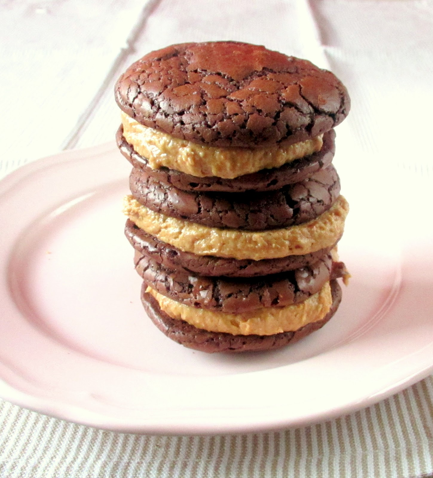 Me And My Sweets: Brownie Cookies with Peanut Butter Frosting