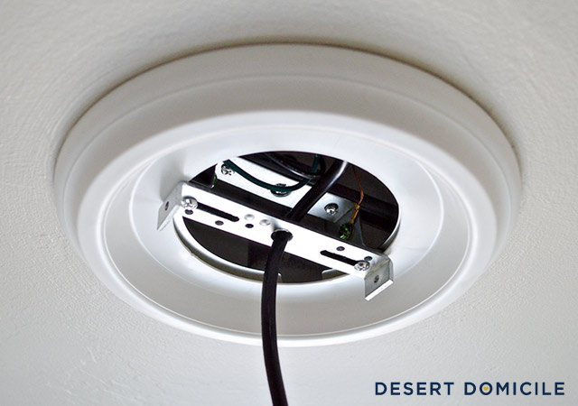 Before I finish mounting any light, I like to turn the power back on to  make sure the fixture is wired correctly. If it is, I turn the power back  off and ... - How To Turn A Recessed Light Into A Hardwired Light Desert Domicile