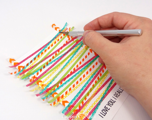 Trim excess washi tape with a craft knife | popperandmimi.com