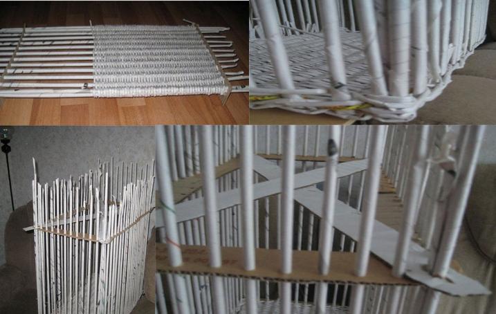Como hacer cestas con papel periodico paso a paso imagui - Cesteria con papel periodico paso a paso ...