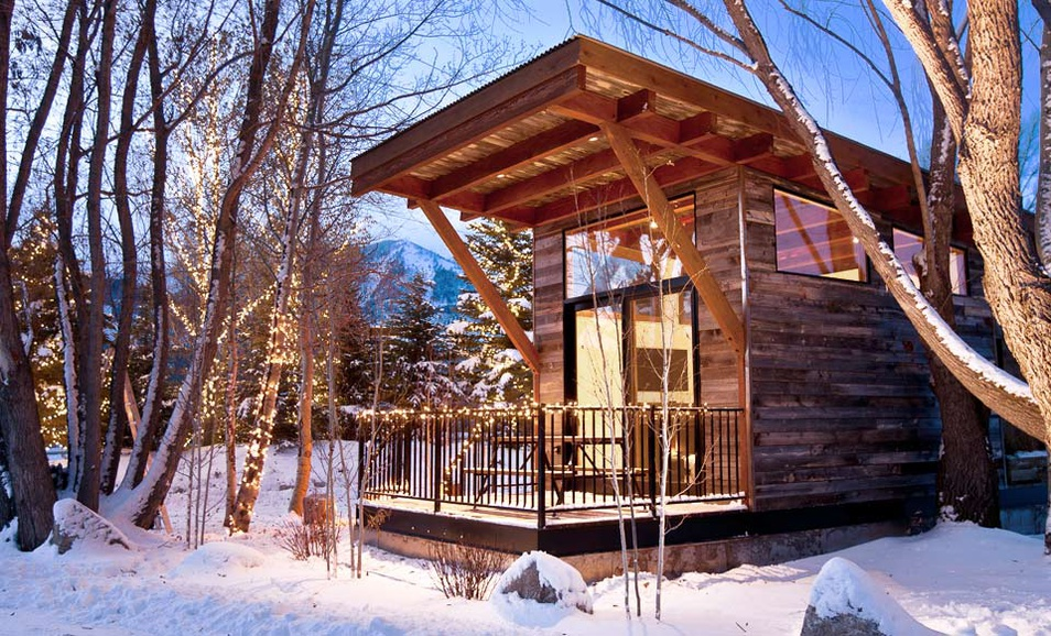ski house of the day mini ski cabin