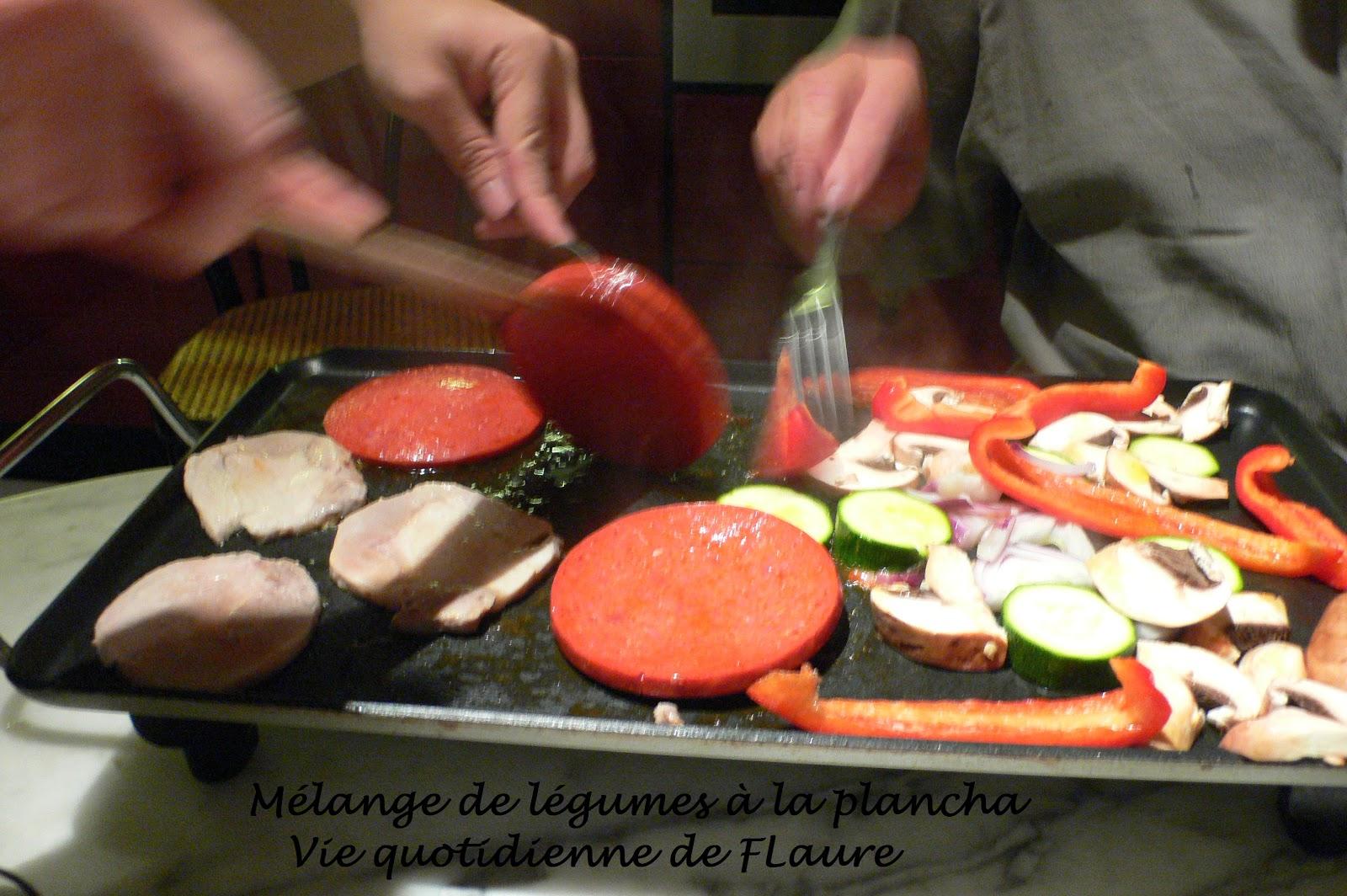 M lange de l gumes la plancha for Legumes a la plancha