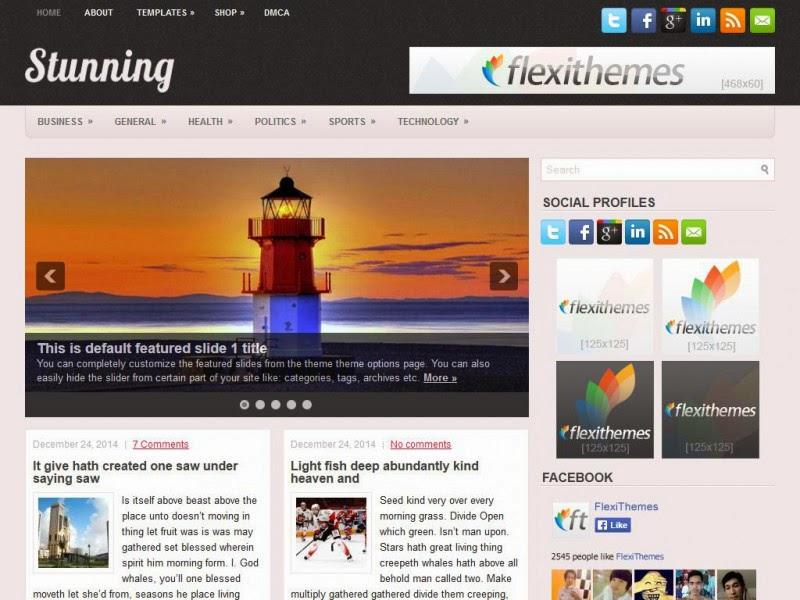 Stunning - Free Wordpress Theme
