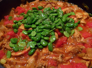 Tagine Cooking: Adding the Fava Beans