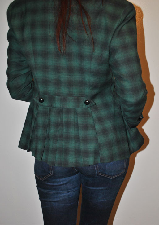 a style of your own blog, mollie booth parks, Betsey Johnson plaid jacket, Banana Republic jersey top, Zara Jeans