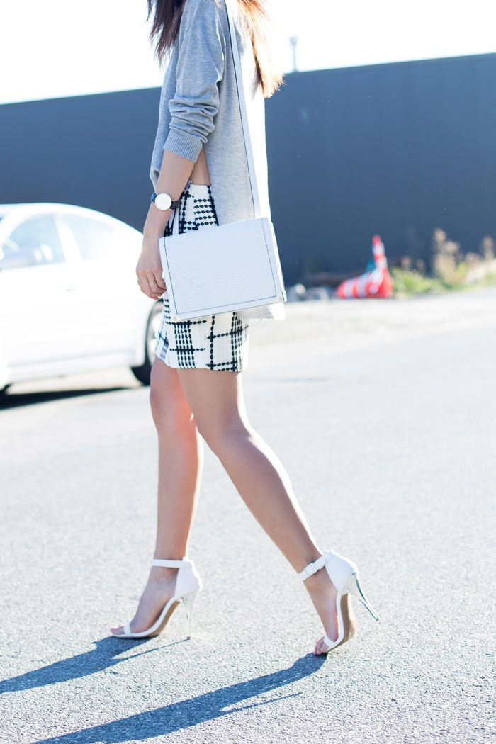 von vogue checked skirt