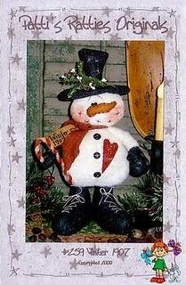 Moldes boneco de neve em tecido