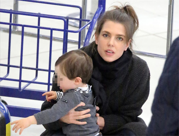 Charlotte Casiraghi and Raphael Elmaleh at the airport in Paris