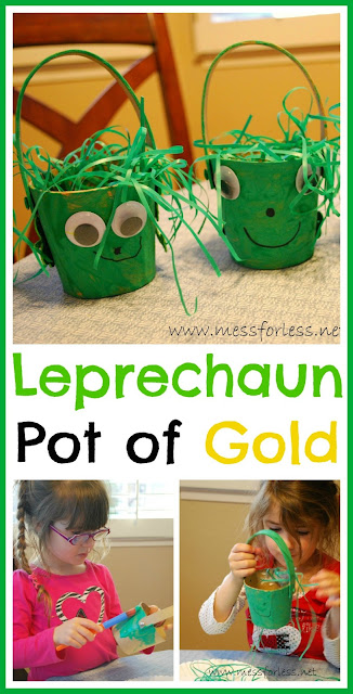 Make a Leprechaun Pot of Gold from Mess For Less #kids #st-patricks-day