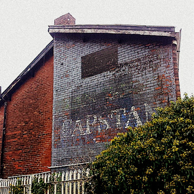 ghost sign, blackburn, lancashire