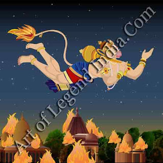 Hanuman fire Lanka