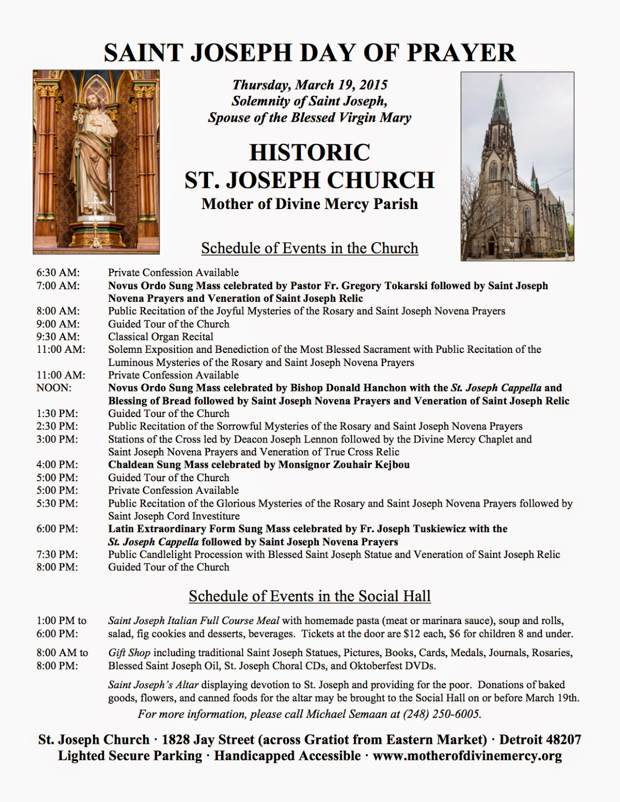 new liturgical movement st joseph day of prayer in detroit rh newliturgicalmovement org