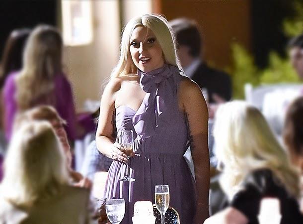 Lady Gaga at Arianne's Wedding Reception