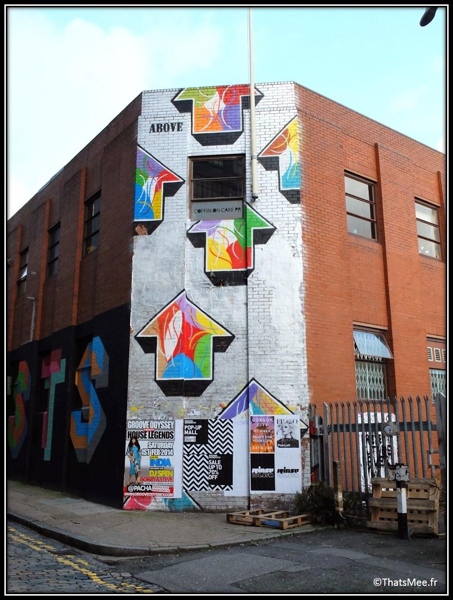 Street Art Londres Shoredicth East London Brick Lane arrox fleches look up