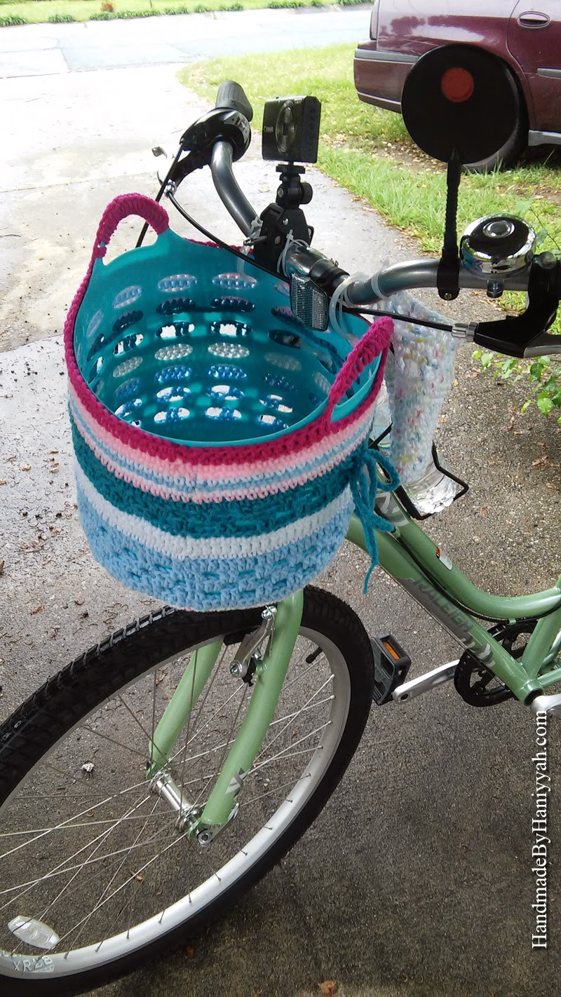 Handmade by Haniyyah: Crochet basket for bicycle