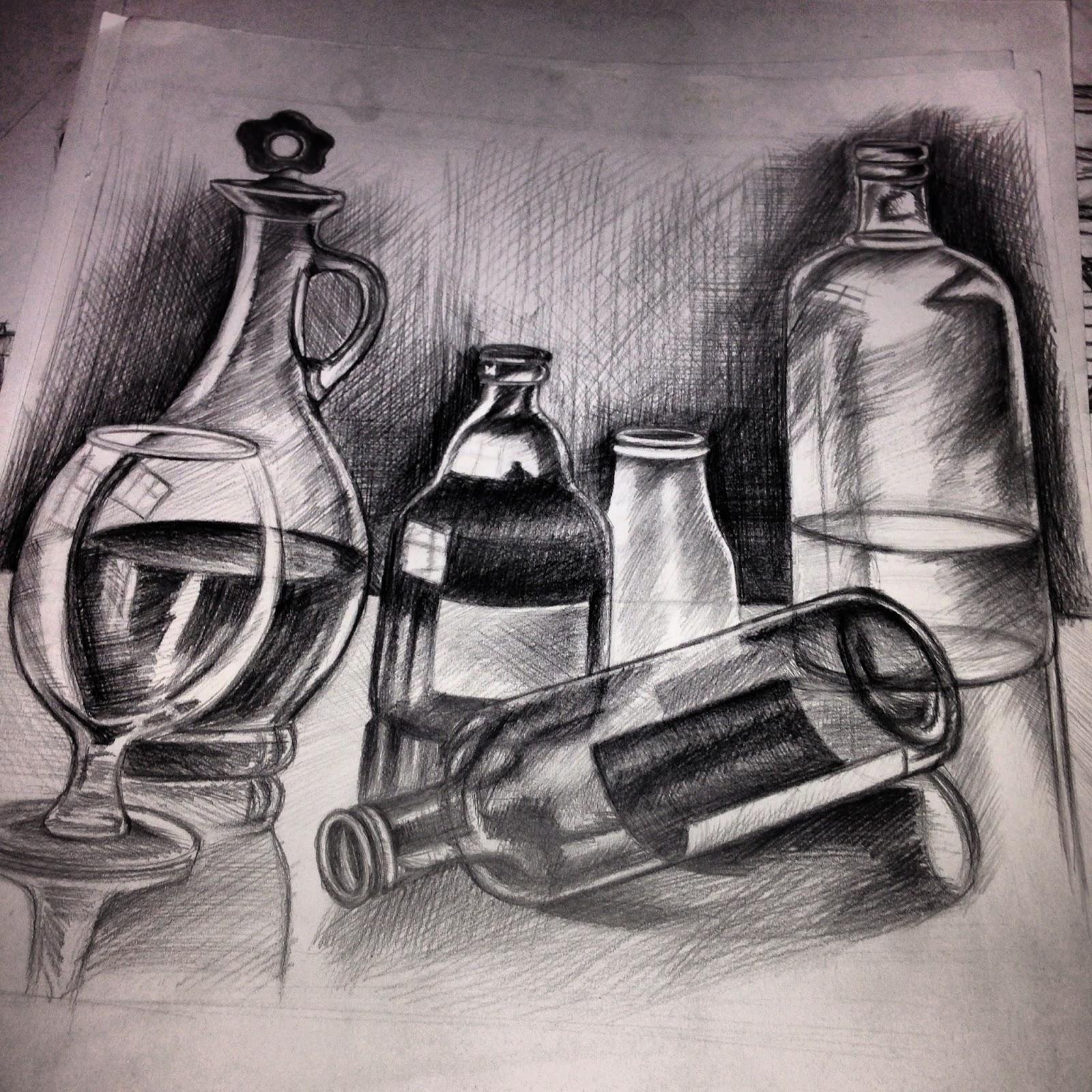 Kompozisyon Obje çizimi Derya Pacal Portfolyo