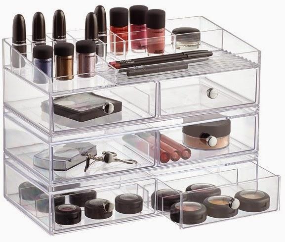 Wide Stacking Makeup Storage