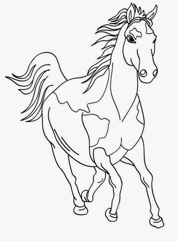 Ausmalbilder Pferde - Bilder zum ausmalen