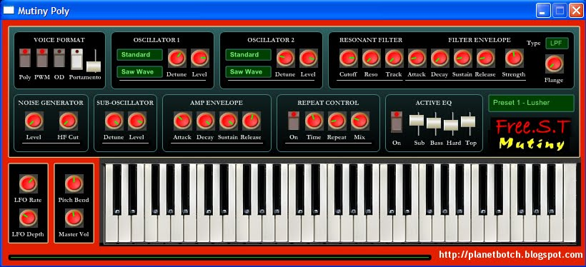 Mutiny Poly VST synthesizer freeware