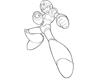 #2 Mega Man Coloring Page