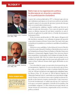 Reformas en la organización política, la alternancia en el poder y cambios en la participación ciudadana - Historia Bloque 5to 2014-2015