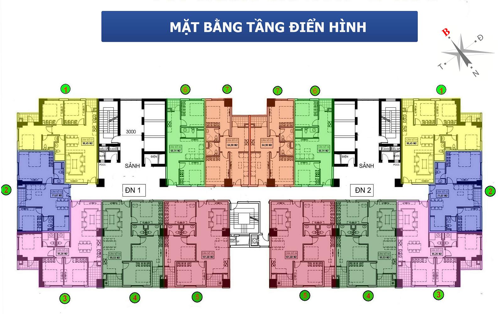 Thiết kế tòa chung cư 136 Hồ Tùng Mậu tòa A2