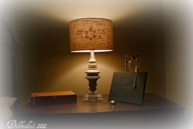 lampgw Stenciled lampshade {DIY}