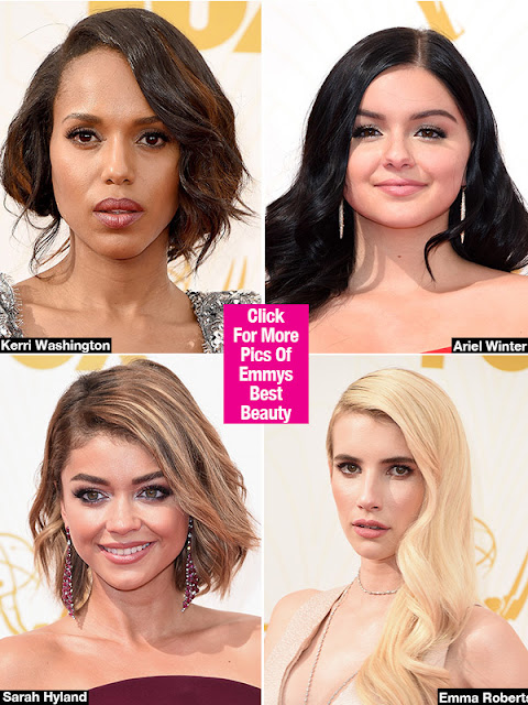 Emmys Style 2015 — Best Hair & Makeup Looks: Sarah Hyland & More - Hollywood News