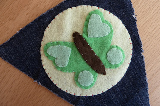 Denim and felt butterfly bunting