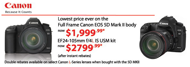 Beau photo supplies blogs price drop on eos 5d mark ii for Canon 5d mark ii price