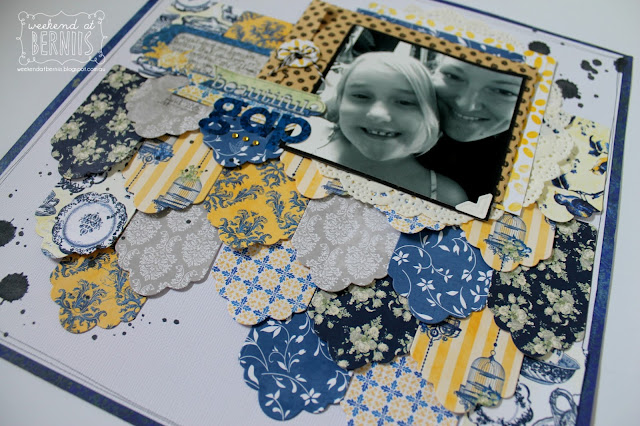 Beautiful Gap layout by Bernii Miller for BoBunny using the Genevieve collection