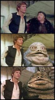 Jabba el hutt en las versiones/ediciones de 1977, 1997 y 2004, Star Wars