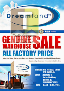 Dreamland Malaysia Mattress Warehouse Sale 2015
