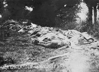 Allied Dead Behind the German Lines at Fromelles, 1916