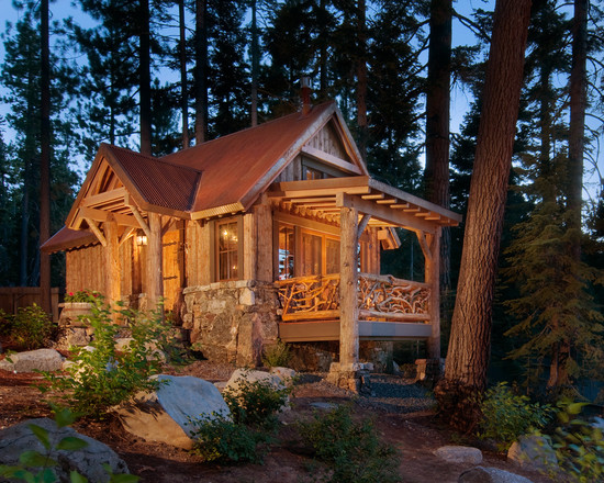 Private Residence log cabin rustic exterior design