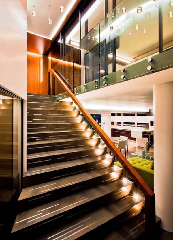 Cool indoor stair lighting ideas led stair lights for Types of lights used in interiors