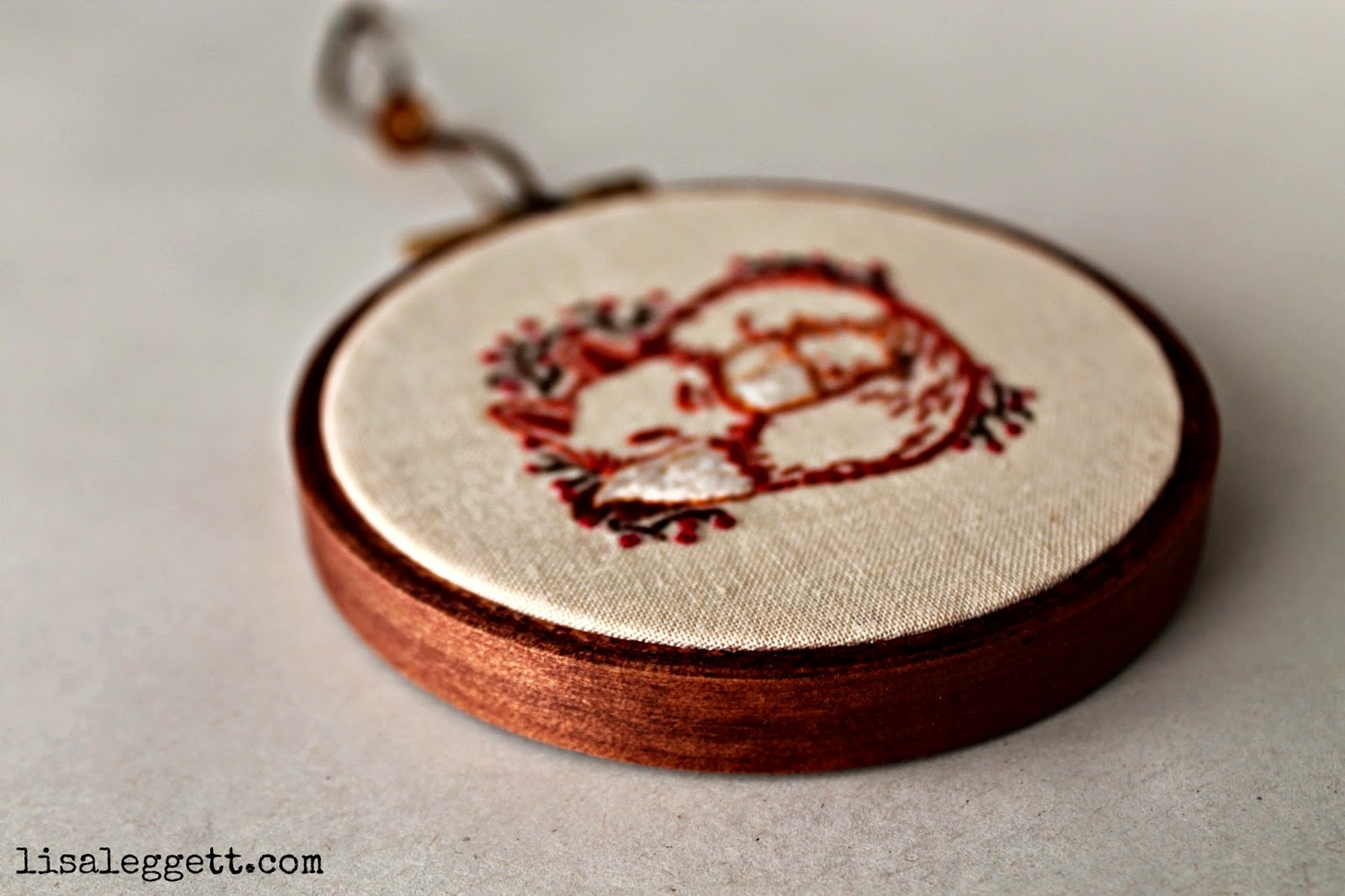 Stained Embroidery Hoop by Lisa Leggett