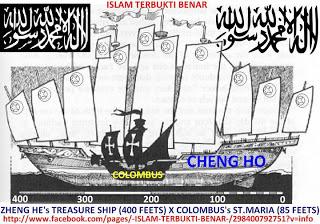 Perbandingan Kapal Columbus dan Kapal Cheng Ho