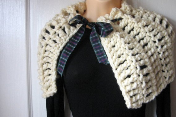 Mel P Designs Free Chunky Capelet Crochet Pattern