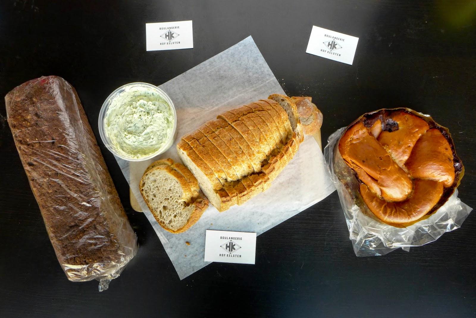 Pastry Montreal - Hof Kelsten pumpernickel, chocolate babka, rye bread caraway
