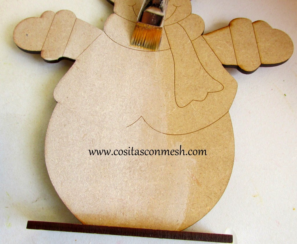 c mo pintar un adorno navide o en madera cositasconmesh