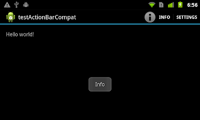 user click on Options Menu in ActionBarCompat