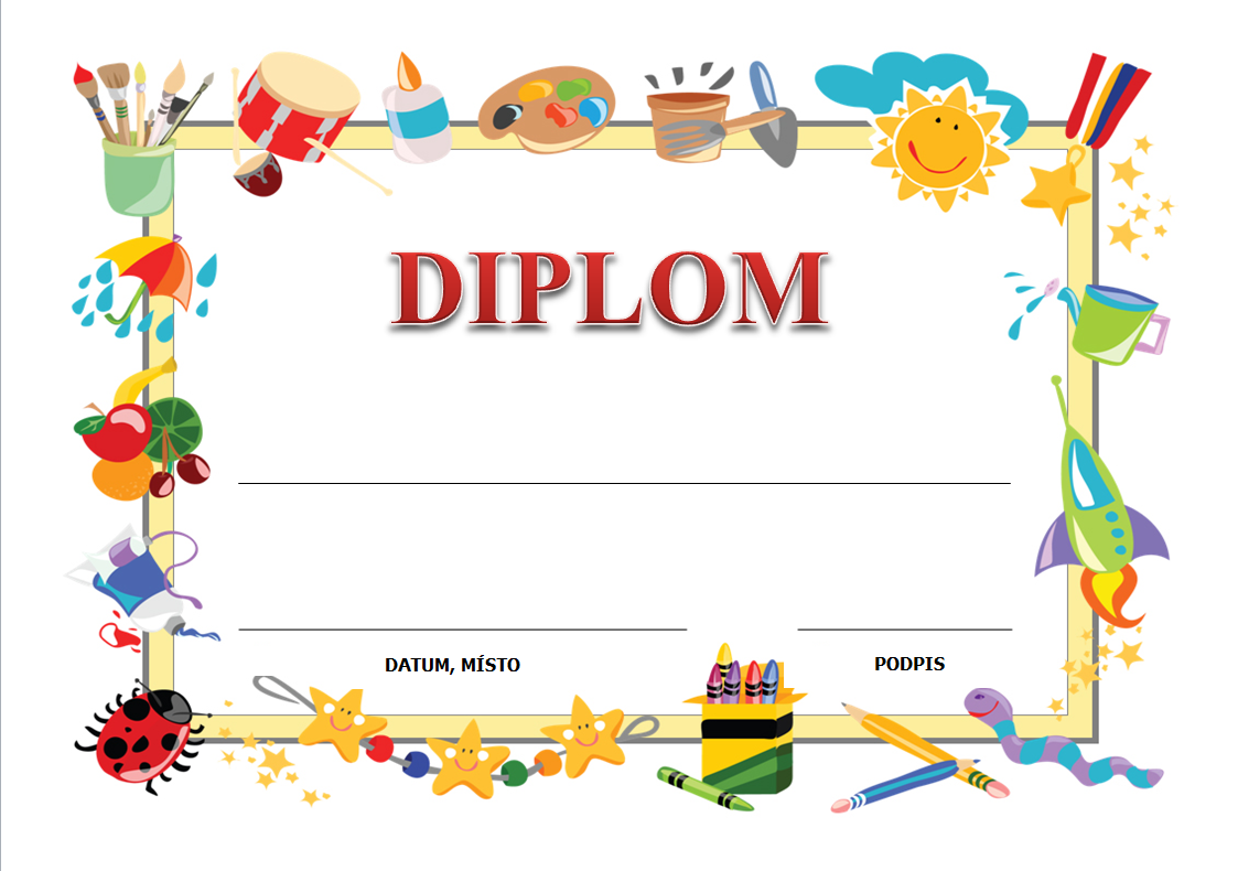 Diplomy pro děti zdarma