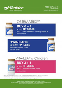 PROMOSI OSTEMATRIX BUY 6 FREE 1  @ BUY TWIN PACK @ VITALEA CHILD BUY 3 FREE 1