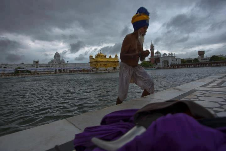 View Of Sri Harmandir Sahib During Monsoon Season