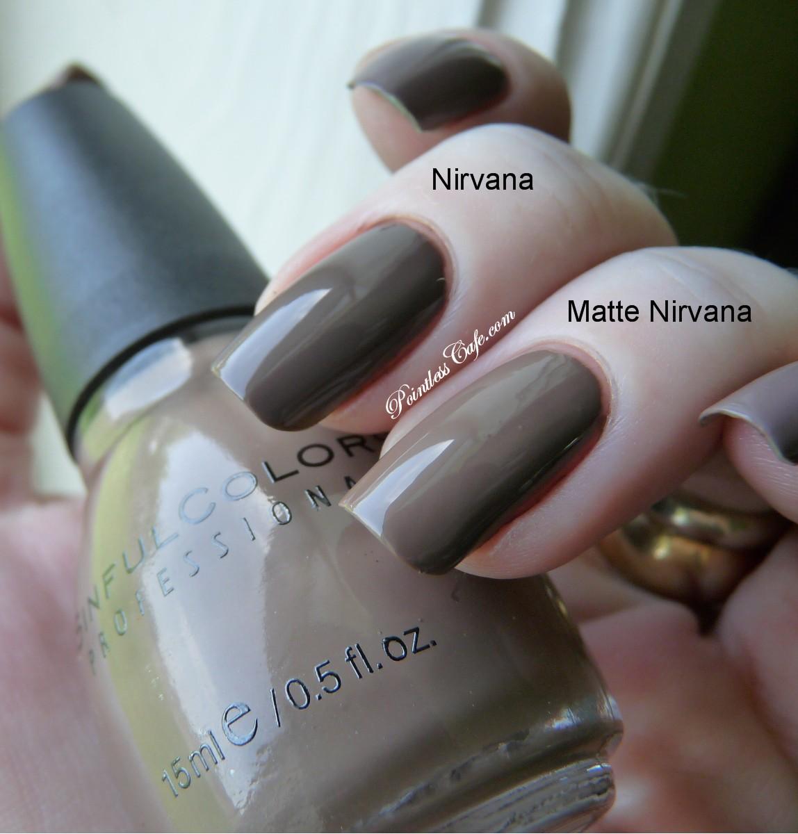 Sinful Colors Nirvana vs Matte Nirvana | Pointless Cafe