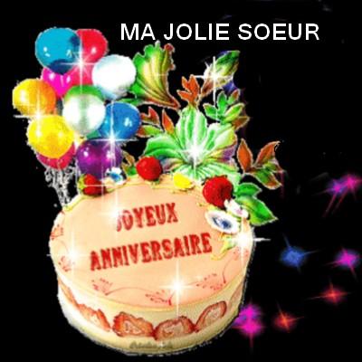 voeux pour anniversaire de ma soeur
