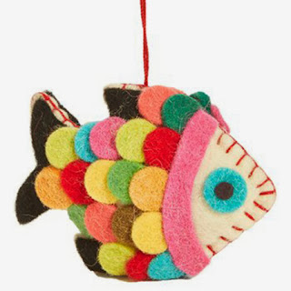 Furbish Studio felt fish ornament