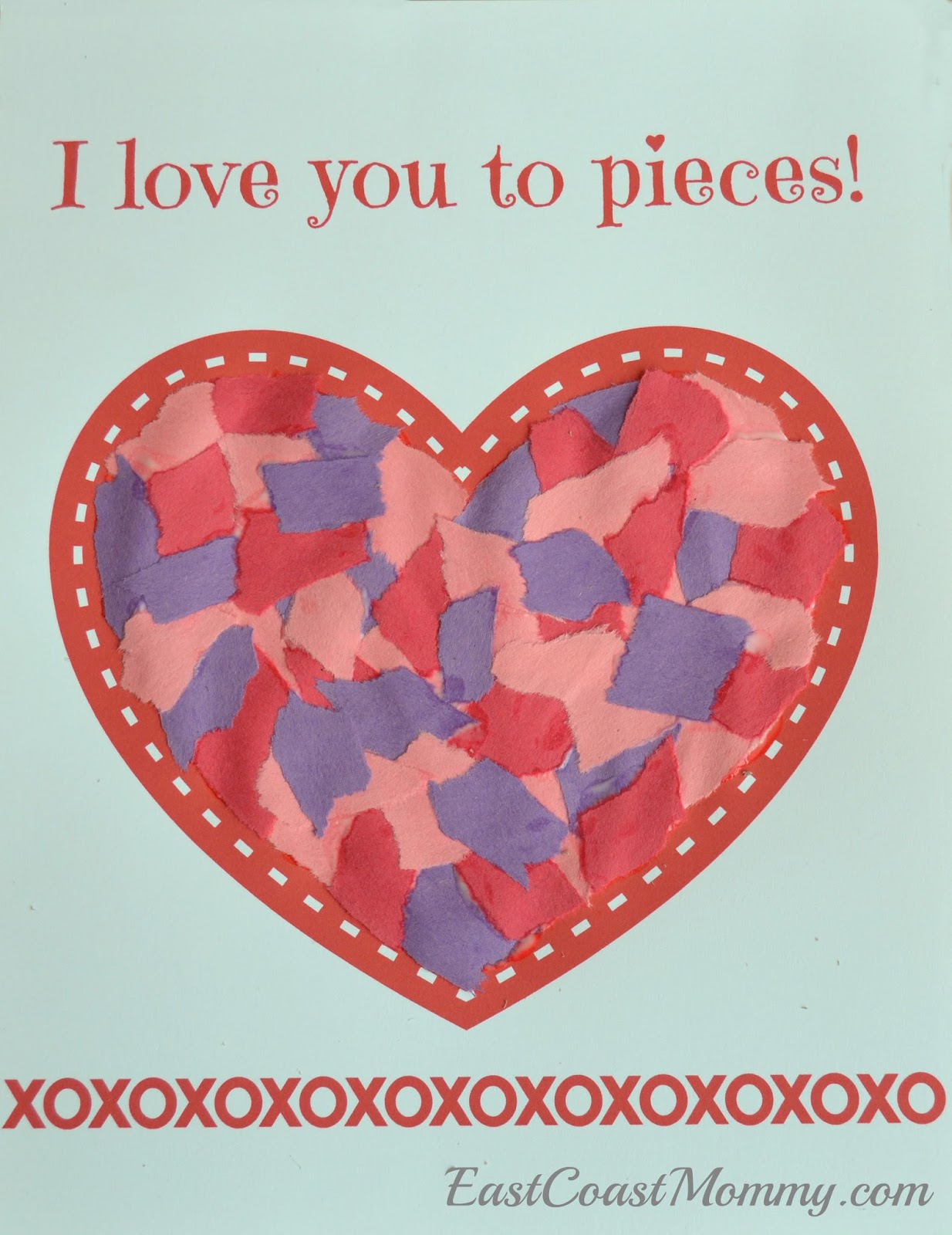 East coast mommy simple valentine 39 s day craft for for Valentines crafts for kindergarten