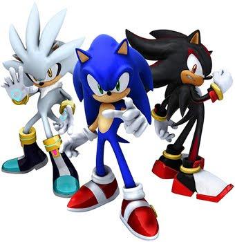 aqui los tres silver,sonic y shadow